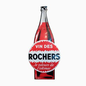 Vintage Vin Des Rochers Sign in Painted Sheet Metal, 1960s