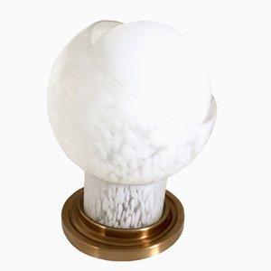 Mundgeblasene Glas Tischlampe von Mazzega, 1970er