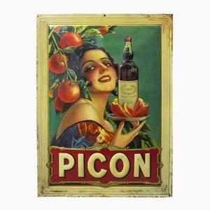 Insegna litografica Picon in stagno di Sirven, anni '20