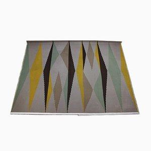 Tappeto grande Kilim modernista geometrico, anni '60