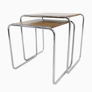 Verchromte Bauhaus B9 Tische von Marcel Breuer, 1930er, 2er Set