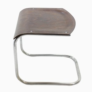 Vintage Bauhaus Chromed Stool by Mart Stam for Mücke Melder