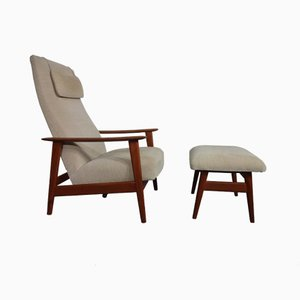 Teak Lounge Chair & Ottoman by Rolf Rastad & Adolf Relling for Arnestad Bruk, 1950s