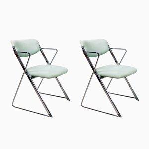 Klappbare Mid-Century Stühle von Ernest Race, 1960er, 2er Set