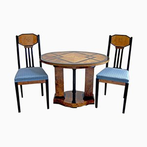 Antique German Table & Chairs by Joseph Maria Olbrich