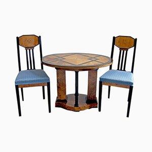 Tavolo e sedie antichi di Joseph Maria Olbrich, Germania