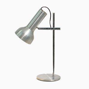 Lámpara de escritorio industrial ajustable de aluminio prensado, años 50
