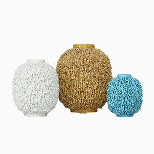 Chamotte Hedgehog Vases by Gunnar Nylund for Rörstrand, 1940s, Set of 3