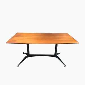 Italian Wood & Metal Table, 1960s