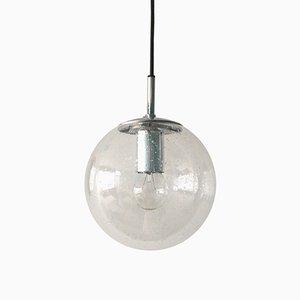 Lampada a sospensione sferica di Glashütte Limburg, anni '60