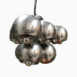 Mid-Century Space Age Chrome Chandelier