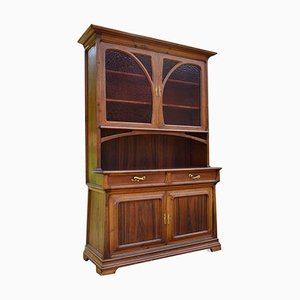 Art Nouveau 2-Part Buffet in Chestnut & Exotic Wood
