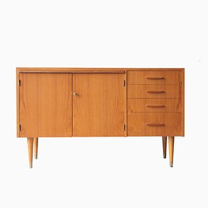 Swedish Teak Cabinet with Extendable Desk, 1950s