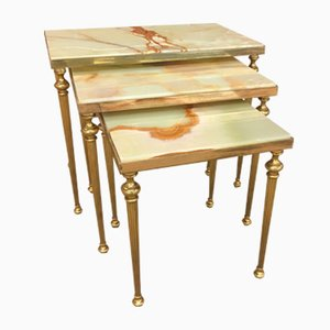 Hollywood Regency Nesting Tables from Maison Jansen, 1950s