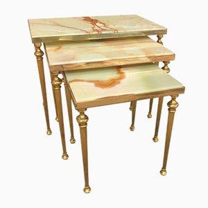 Hollywood Regency Nesting Tables from Maison Jansen, 1950s