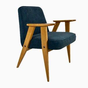 Modell 366 Polsterstuhl von J. Chierowski für Silesian Furniture Factory, 1960er