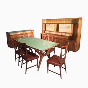 Italienisches Esszimmer Set von Gio Ponti für La Permanente Mobili Cantu, 1940er, 9er Set
