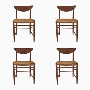 Modell 316 Teak Esszimmerstühle von Peter Hvidt & Orla Mølgaard Nielsen für Søborg, 1960er, 4er Set