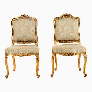 Chaises Antiques Style Louis XV, Set de 2