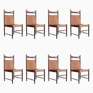 Brazilian Cantu Chairs by Sergio Rodrigues, 1950s, Set of 8