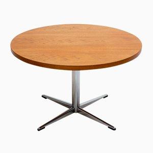 Mid-Century Teak & Chrome Coffee Table
