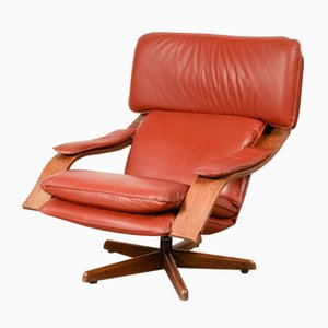 Mid-Century Danish Swivel Relax Lounge Chair