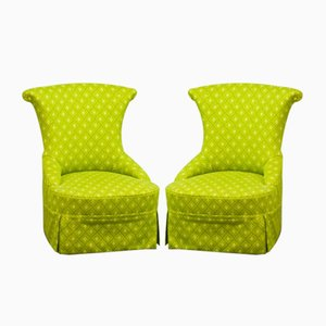 French Slipper Chairs, 1950s, Set of 2