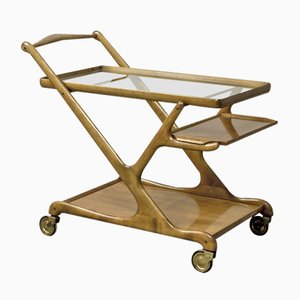 Mid-Century Walnut Trolley by Cesare Lacca for Cassina