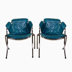 Chaises de Salon Lynn Vintage par Gastone Rinaldi pour RIMA, Italie