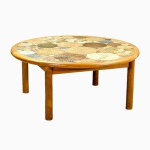 Tavolino da caffè con piastrelle artistiche in ceramica di Tue Poulsen per Haslev, anni '60