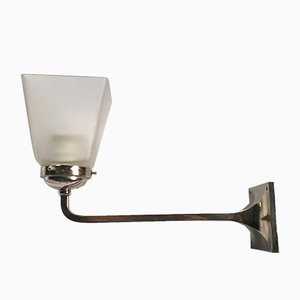 Modernist Nickel Sconces, 1920s, Set of 2