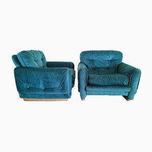 French Lounge Armchairs, 1970s, Set of 2