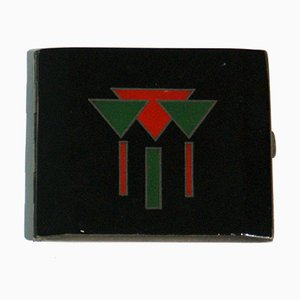 French Art Deco Laquered Cigarette Case, 1920s
