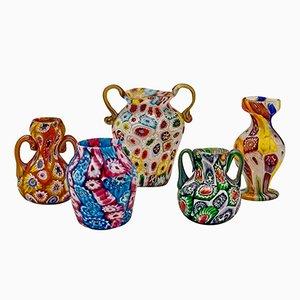 Set di 5 vasi in vetro di Murano dei Fratelli Toso