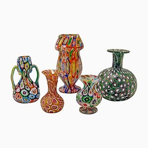 Antique Murano Five Piece Set from Fratelli Toso