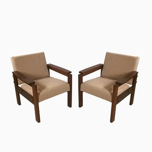 Teak Armchairs, 1950s, Set of 2