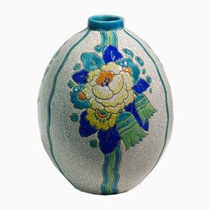Belgische Art Deco Vase von Charles Catteau für Keramis, 1920er
