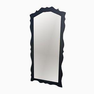Grand Miroir Mid-Century avec Cadre en Bois