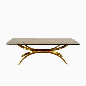 Table Basse Sculptée Dorée, Italie, 1970s