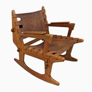 Sedia a dondolo Mid-Century di Angel I. Pazmino per Estillo Furniture, anni '60