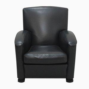 Italienischer Tabarin Leder Sessel von Poltrona Frau, 1985