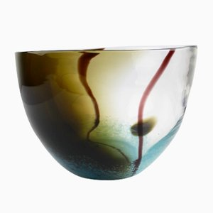 Vintage Murano Glass Bowl, 1980s