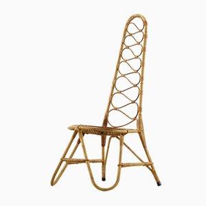 Französischer Riviera Rattan & Bambus Stuhl