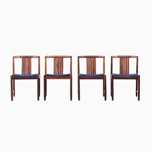 Dänische Stühle aus Palisander, 1960er, 4er Set