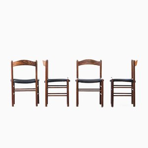 Chaises Scandinaves en Teck, 1960s, Set de 4