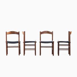 Skandinavische Stühle aus Teak, 1960er, 4er Set