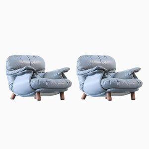 Vintage Leder Sessel, 2er Set