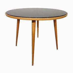 Tisch aus Glas & Kirschholz, 1960er
