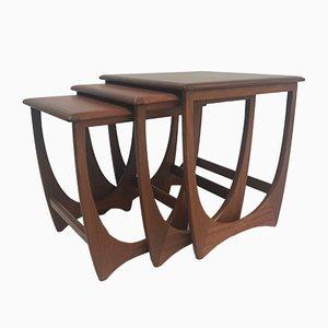 Tavolini ad incastro Mid-Century in teak di G-Plan, anni '60