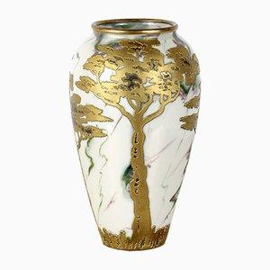 Jugendstil Vase von Gebrüder Heubach